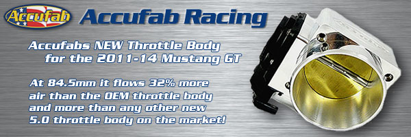 Accufab 85mm Throttle Body for 2011-14 Mustang GT