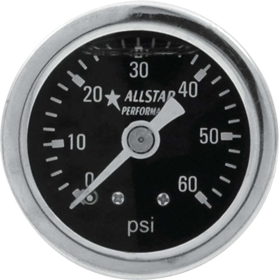 Allstar 1.5 Gauge 0-60 PSI Liquid Filled
