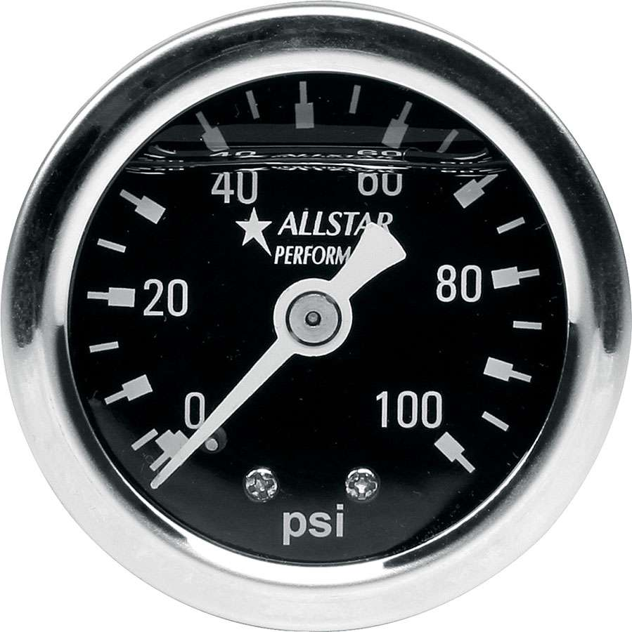 Allstar 1.5 Gauge 0-100 PSI Liquid Filled