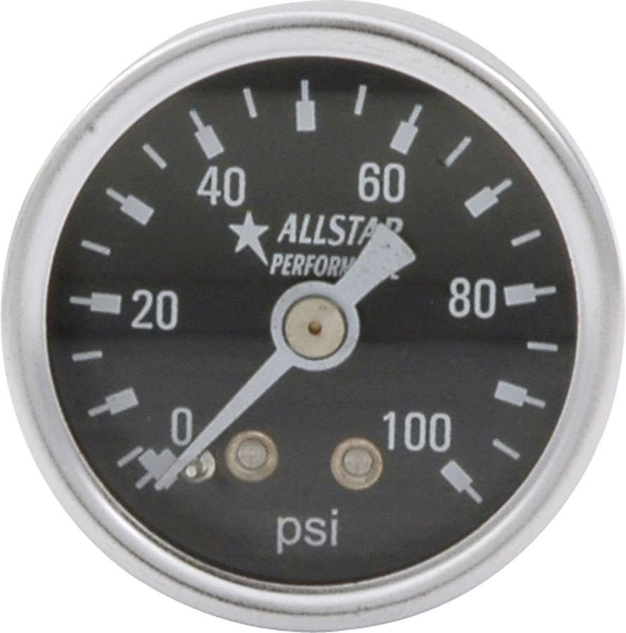 Allstar Fuel pressure gauge 0-100 PSI 1.5in Dry Black face