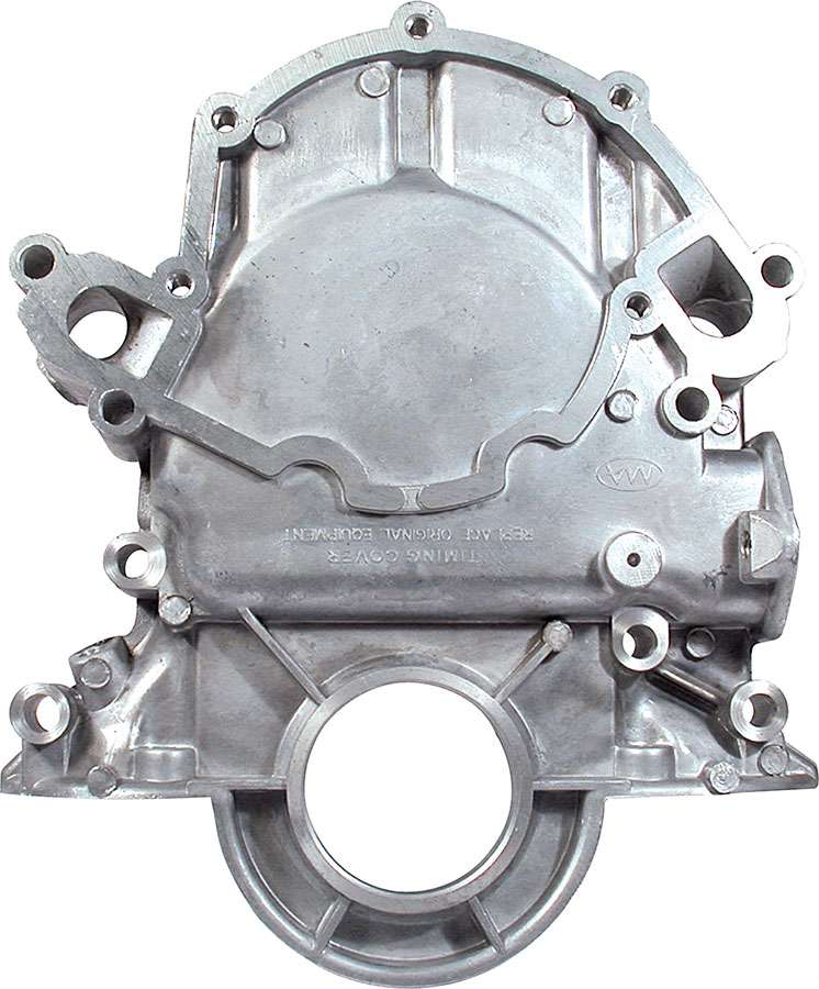 Timing Cover SB Ford, early style std rotation, fuel pump and dipstick