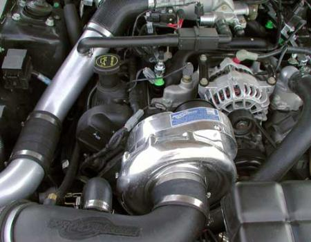 ProCharger High Output Intercooled System with P-1SC, 1996-1998 MUSTANG GT (4.6