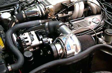 ProCharger High Output Intercooled System with polished D-1, 1985-1991 CORVETTE