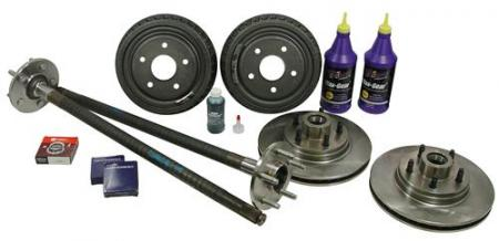 1987-93 Mustang Complete 5-Lug Conversion Kit With 31 Spline (Rear Drums)