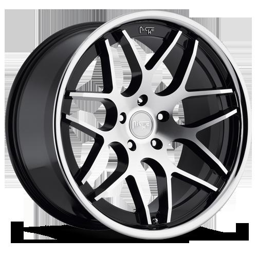 Niche Mugello Black / Machined, 20x10, 5x4.5, 40mm, 2005+ Mustang