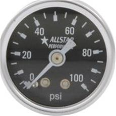 WMS 100 psi Fuel Pressure Gauge and fitting