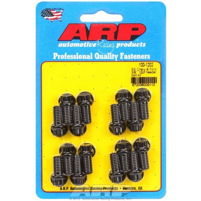 ARP Header Bolts, 5.0/302/351, 12pt Black