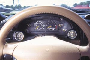 Gauge Works Cluster Bezel, Dual 2, 1994-99 Mustang
