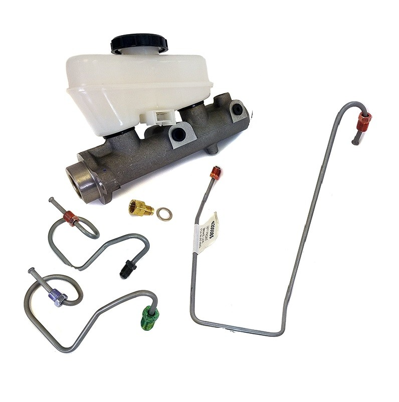 Baer Master Cylinder kit for big brakes, 15/16 with lines, 79-93 Mustang