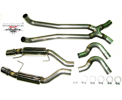 Bassani Catback and X, 3 Stainless, 2007-09 GT500 (mid pipe req\'d)