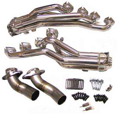 Bassani Mid Length Headers 4.6L, 99-04 4V ceramic coated