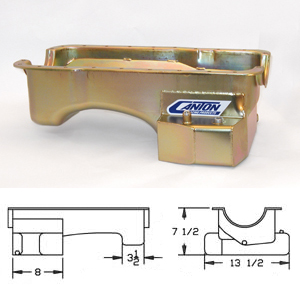 Canton Oil Pan, 7qt low profile, 1979-93 Mustang 351W