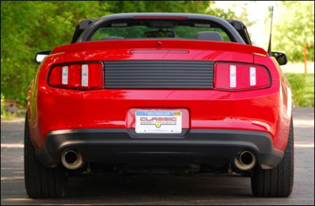 Classic Design Concepts Rear Black Out Panel, 2010 Mustang