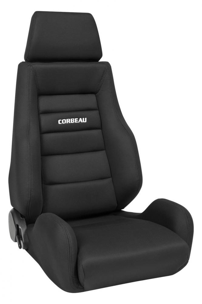 Corbeau GTS II recliner seat, black cloth, each