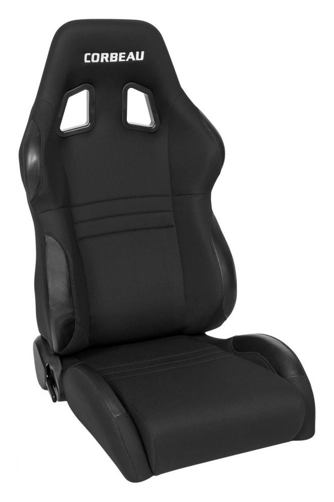 Corbeau A4 recliner seat, black cloth, each