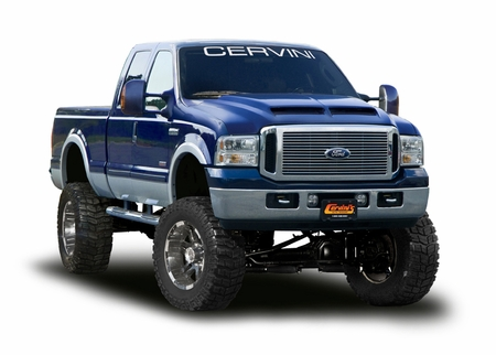 cervini 39 s ford super duty type 4 ram air hood 1999 07. Black Bedroom Furniture Sets. Home Design Ideas
