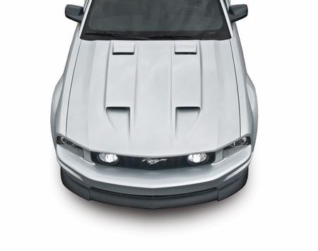 Cervini\'s Stalker Hood, 2005-2009 Mustang (Fits with OEM Bumper)