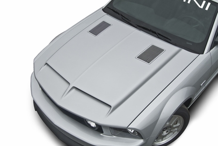Cervini\'s Type 4 Ram Air Hood w/ billet inserts, 2005-09 Mustang