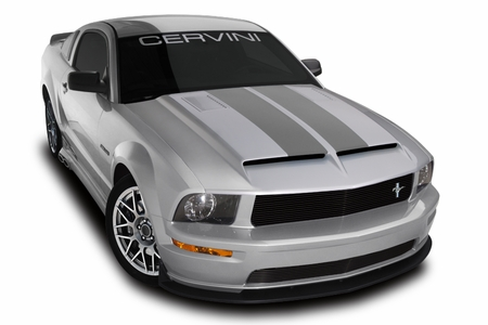 Cervini\'s Type 4 Ram Air Hood w/ Louver inserts, 2005-09 Mustang