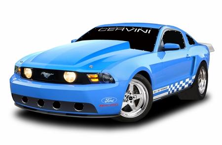 Cervini\'s 4 Cowl Hood, 2010-12 Mustang