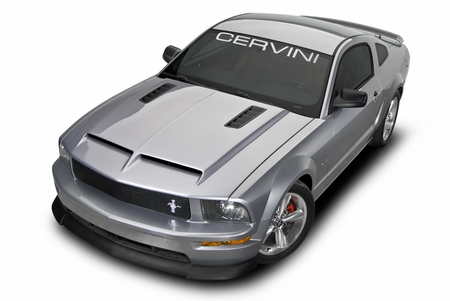 Cervini\'s Ram Air Hood w/ Louvers, 2005-09 Mustang