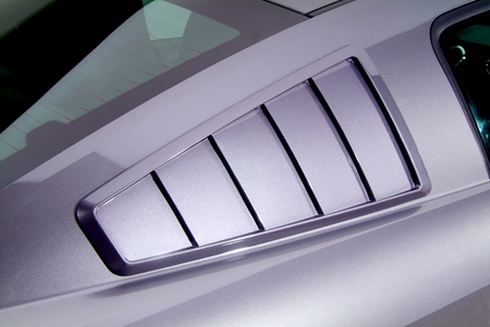 Cervini\'s Side Window Louvers, \'65 fastback Style, 2005-14 Mustang