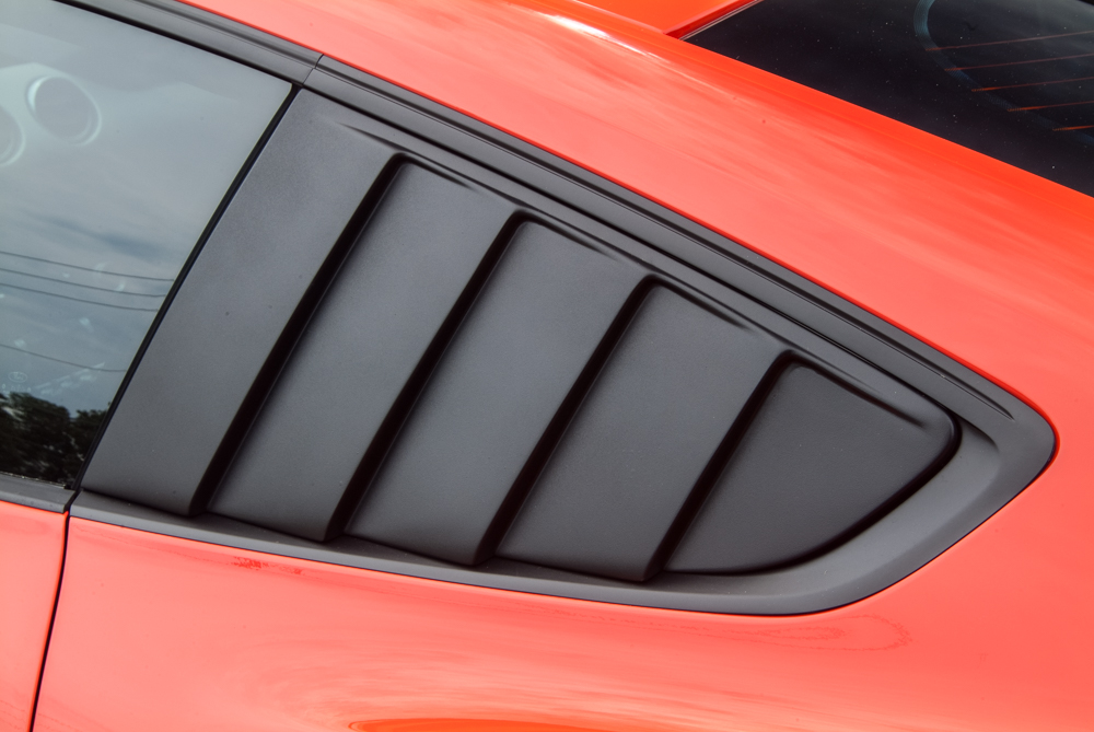 Cervini\'s Quarter Window Louvers, black, 2015+ Mustang
