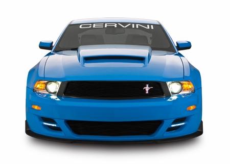 Cervini\'s Stalker front bumper cover w/LEDS and grilles, 2010-12 Mustang