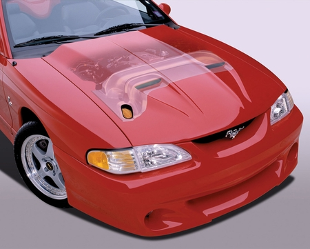 Cervini\'s 1996-98 Mustang Ram Air Hood and Kit
