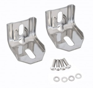 1983-93 Mustang Headlight Panel Brackets - Polished SS