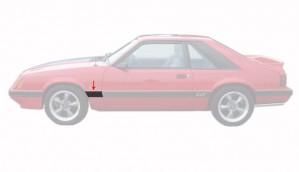 1985-86 Mustang Rear Of Fender Body Mouldings - LH