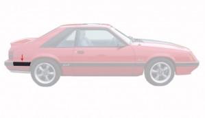 1985-86 Mustang Rear Of Quarter Molding - RH