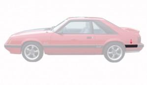 1985-86 Mustang Rear Of Quarter Molding - LH