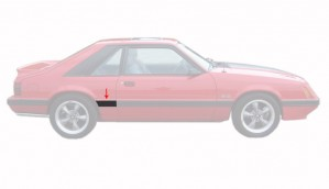 1985-86 LX Front Of Quarter Body Mouldings Right Hand Side