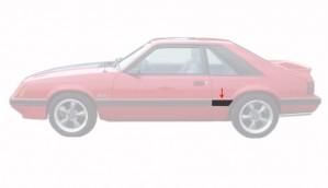 1985-86 LX Front Of Quarter Body Mouldings Left Hand Side