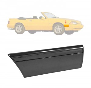 1987-90 Mustang LX Front Of Fender Body Mouldings RH