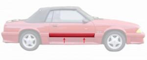 1987-93 Mustang GT Door Molding - RH