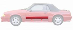 1987-93 Mustang GT Door Molding - LH