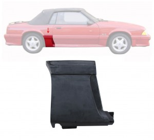 1987-93 GT Front Of Quarter Body Moldings RH With Side Scoop Ground Effect