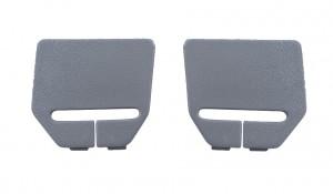 1990-93 Mustang Hatchback Rear Seat Belt Bezels - Pair