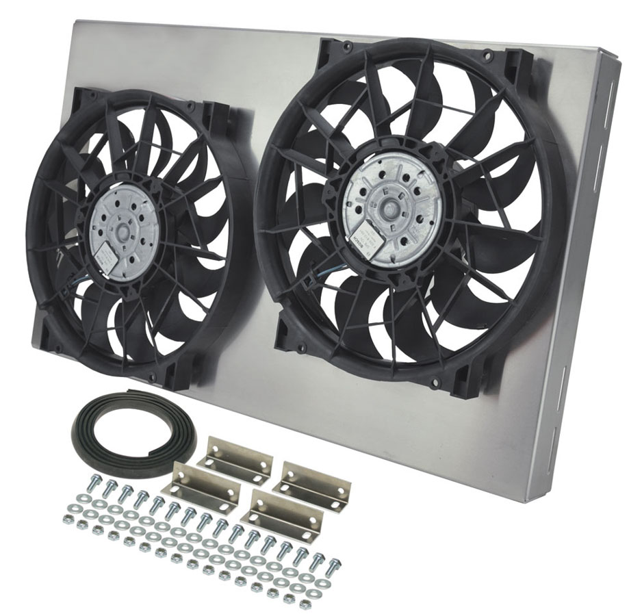 Derale Dual fan assembly with aluminum shroud, 26\