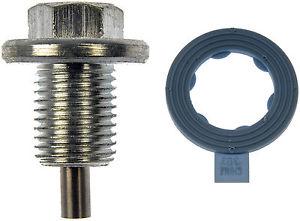 Oil pan drain plug, magnetic, 1991-95 Mustang