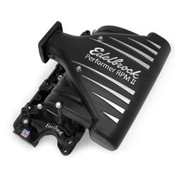 Edelbrock Performer RPM II intake, 5.0, black