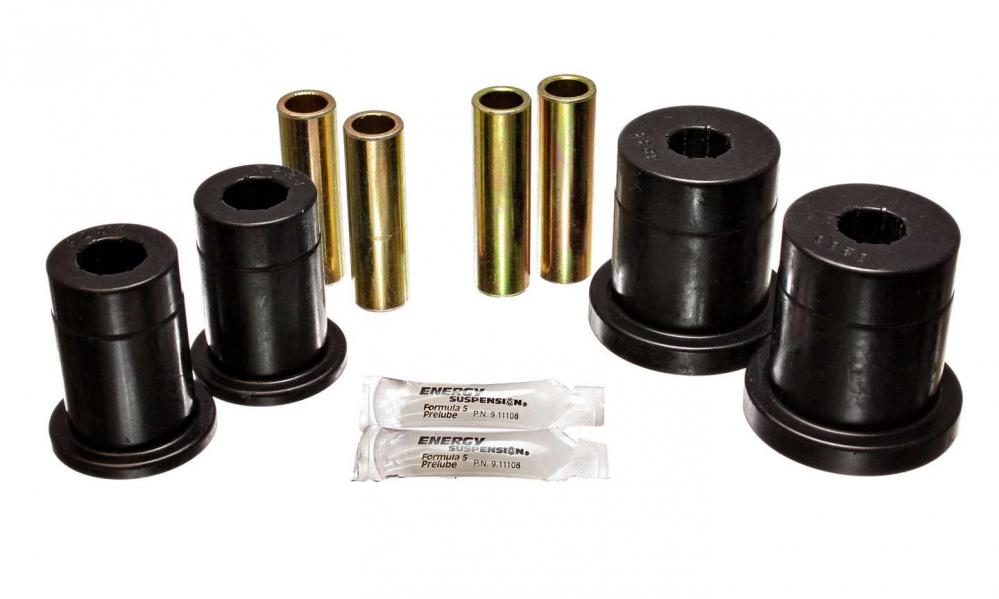 Energy Control Arm Bushings, black, 1979-93 Mustang front