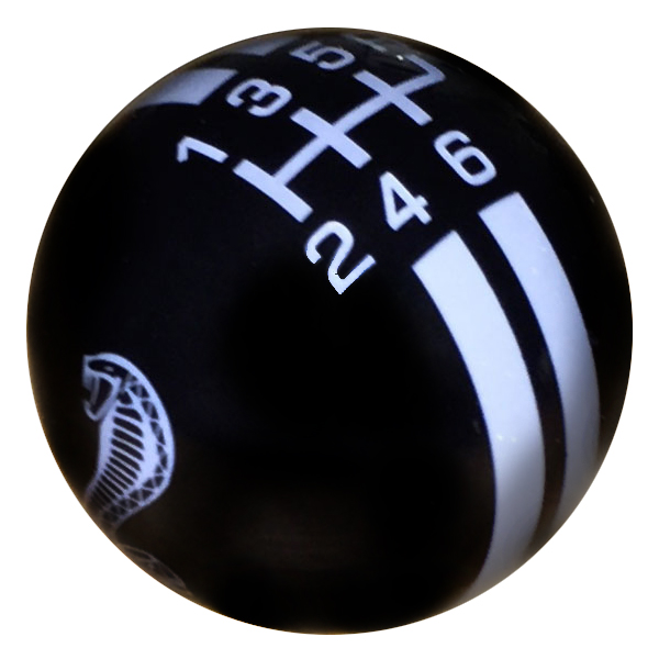 Rally Billard Style Shift Knob, Cobra Snake, Black w/Gray Pearl, GT500
