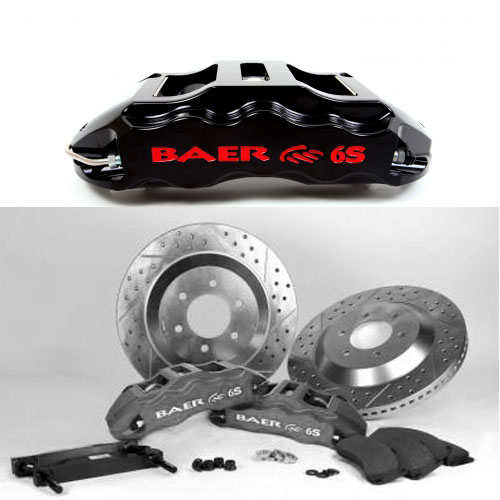 Baer Extreme 14, Rear, 1-1 GM 10 or 12 bolt Bearing on axle with flush mount, S
