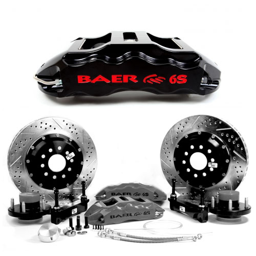 BAER EXTREME-PLUS 13.5, rear, 1992-2002 Viper, Black