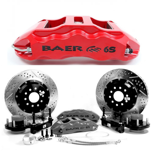 BAER EXTREME-PLUS 14 Shelby, rear, 2005-2014 Mustang, Red