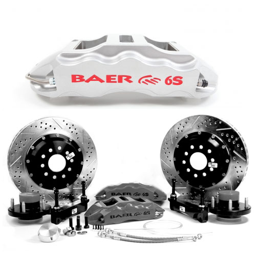 Baer Extreme+ 14, Rear, 2008-2009 Pontiac G8 All,6S Silver