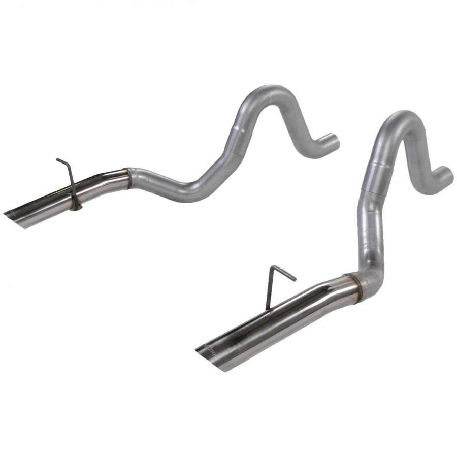 Flowmaster tailpipes, 3 stainless tips, 1979-93 Mustang LX